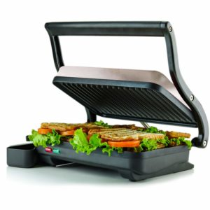 Ovente 2-Slice Electric Panini Press Grill