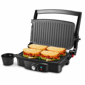 Panini Maker, iSiLER 4 Slice Panini Press Grill