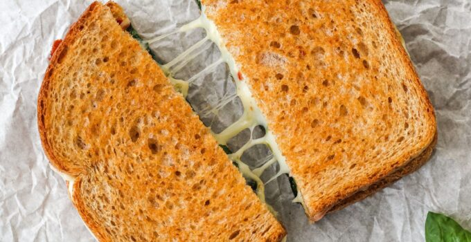 toaster oven grilled cheese