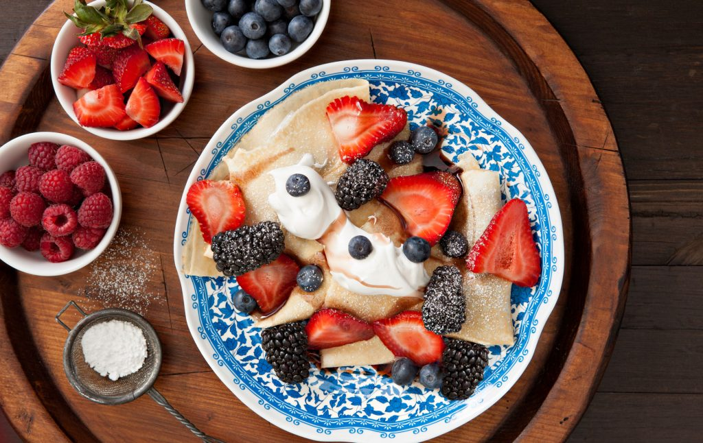 tasty french crepes